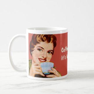 Kaffe håller mig upptagen, tills det är tid att kaffe muggar