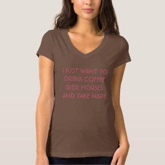 Kaffe hästar, & ta sig en tupplur utslagsplatsen t shirt