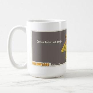kaffe hjälper mig poopen mugg