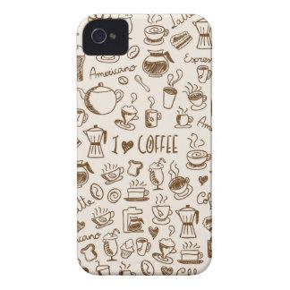 Kaffe klottrar Case-Mate iPhone 4 fodral