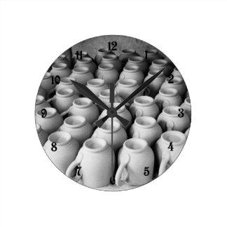 Kaffe koppar medium rund klocka