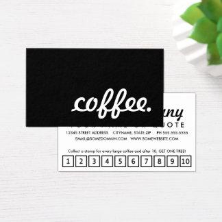 kaffe. lojalitetstansmaskinkort visitkort