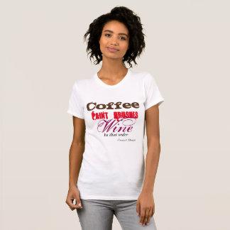 Kaffe målar borstar, vinutslagsplatsen t-shirts