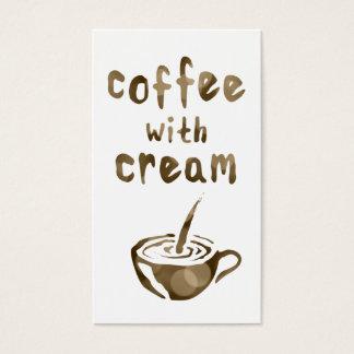 kaffe med kräm- bokeh för stansmaskinkort visitkort