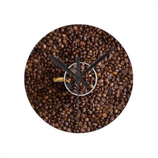 Kaffe Medium Rund Klocka