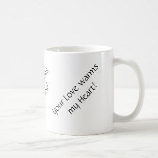 Kaffe, musik och kärlekmugg vit mugg