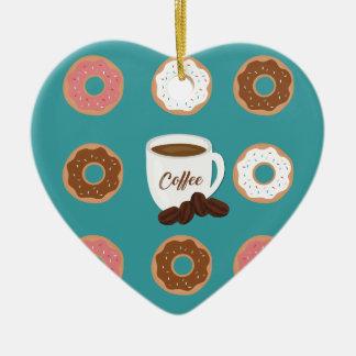 Kaffe och Donuts Julgransprydnad Keramik
