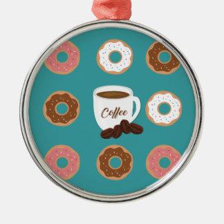 Kaffe och Donuts Julgransprydnad Metall