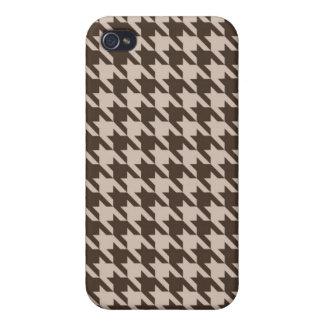 Kaffe och kräm- Houndstooth iphone case iPhone 4 Fodral