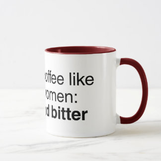 Kaffe och kvinnor: Starkt och bittert Mugg