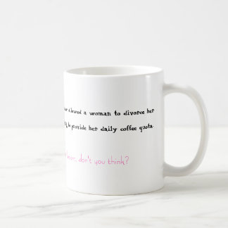 Kaffe och skilsmässa kaffemugg