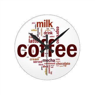 Kaffe Rund Klocka