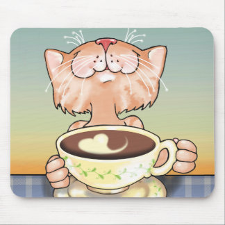 Kaffe som älskar tabbyen Mousepad Musmatta