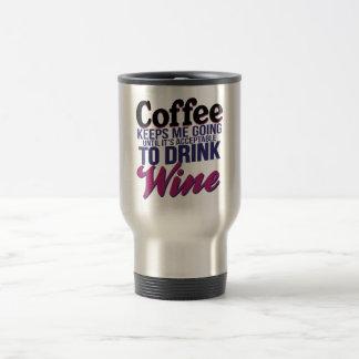 Kaffe, tills det är godtagbart att dricka vin resemugg