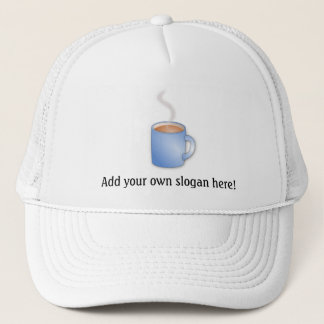 Kaffe Time! Ånga den grafiska muggen Truckerkeps