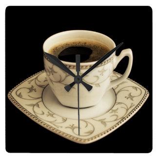 Kaffe Time Fyrkantig Klocka
