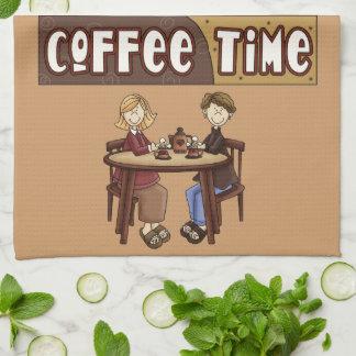 Kaffe Time med vänkökshandduken Kökshandduk