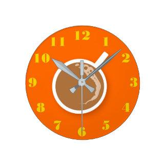 Kaffe Time Rund Klocka