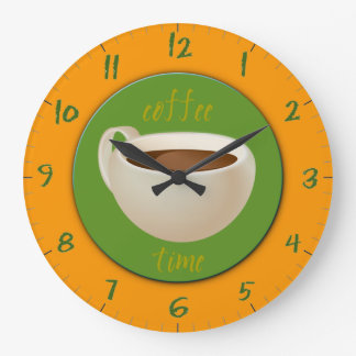 Kaffe Time Stor Klocka