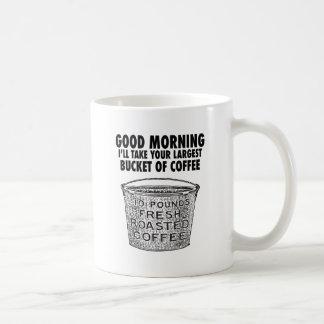 Kaffe vid ösregna kaffemugg