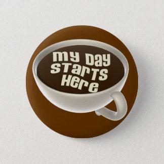 Kaffeälskare Standard Knapp Rund 5.7 Cm