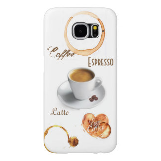 Kaffeälskare telefonen för den Samsung galaxen S6 Galaxy S5 Fodral