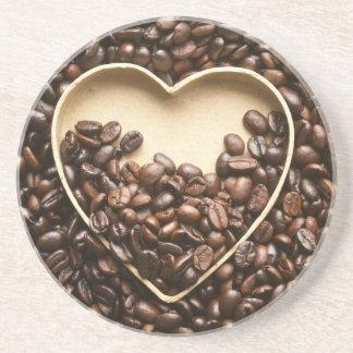 Kaffeälskare Underlägg Sandsten