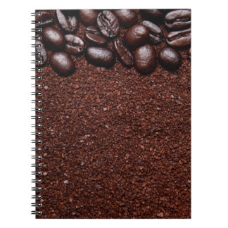 Kaffebönor - Java böna skräddarsy mallar Anteckningsbok Med Spiral