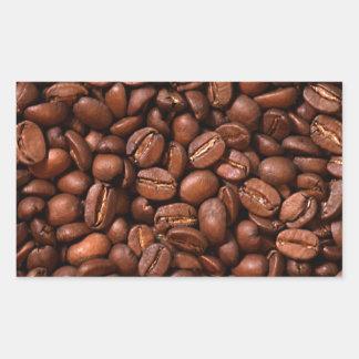 Kaffebönor Rektangulärt Klistermärke