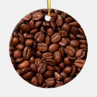 Kaffebönor Rund Julgransprydnad I Keramik