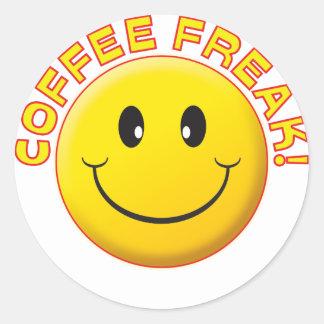Kaffefreakleende Runt Klistermärke