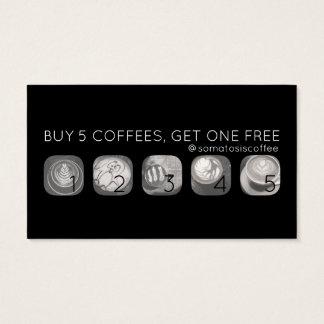kaffegramstansmaskin visitkort