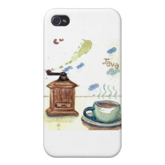 KaffeGrinder för Ye Olde - Folk konst för kaffe iPhone 4 Cases