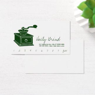 KaffeGrinder/lojalitetstansmaskin Visitkort