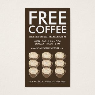 kaffehjärtakonst visitkort
