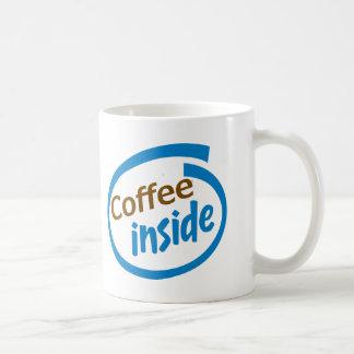 Kaffeinsida Vit Mugg