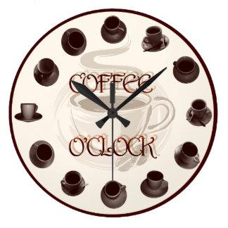Kaffeklockan Stor Rund Klocka