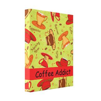 Kaffeknarkaren skräddarsy den röda koppen för canvastryck