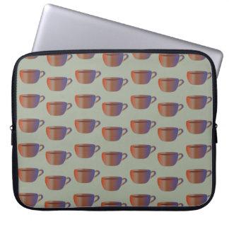 Kaffekonst på laptop sleeve för 10, 13 eller 15