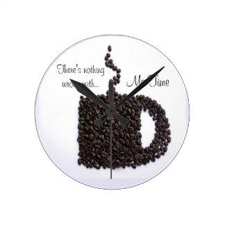Kaffekopp, kaffebönor medium rund klocka
