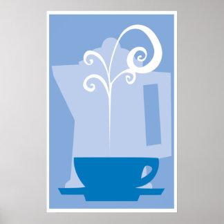 Kaffekopp med ånga posters