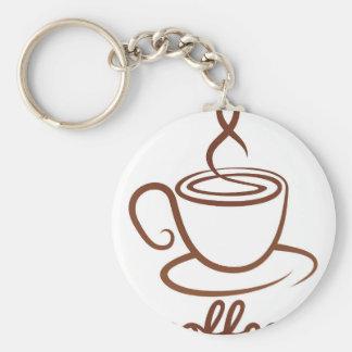 Kaffekoppbegrepp Rund Nyckelring