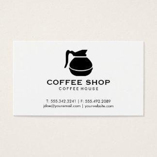Kaffekruka (svarten) visitkort