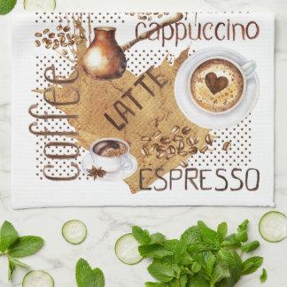 KaffeLatte Cappuccino Kökshandduk