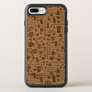 Kaffemönster kvadrerar OtterBox symmetry iPhone 7 plus skal