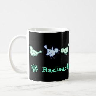 """Kaffemugg """"för RADIOAKTIV BLUEBIRDS"""""""