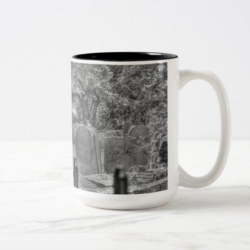 Kaffemugg med kyrkogården kaffe muggar