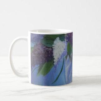 Kaffemugg med lilor