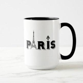 KaffeMugg-svart och vit-PARIS Mugg
