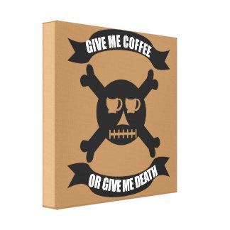 Kaffepiratskalle och Crossbonestryck Canvastryck
